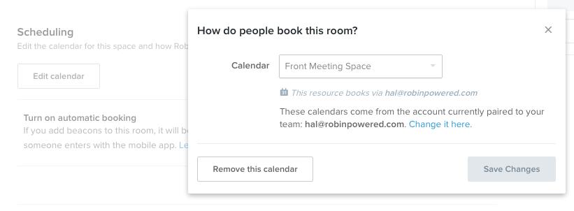 remove a room calendar robin help center