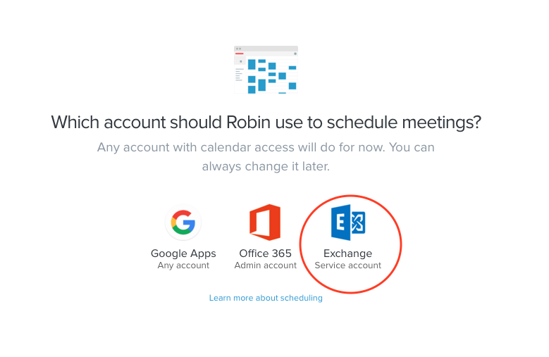 connect your service account robin help center