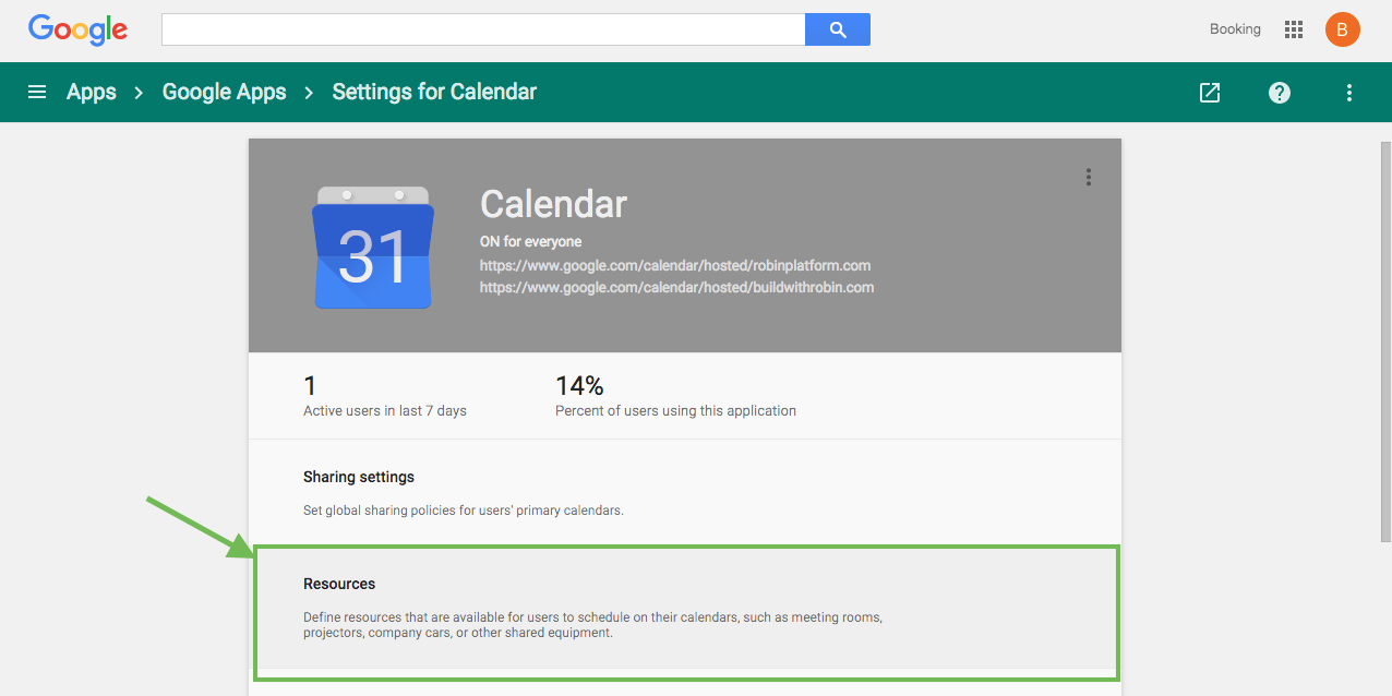 create calendar resources for rooms in g suite robin help center